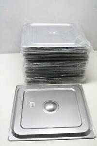 Johnson Rose 2 3 Size Steam Table Lid Cover For Anti jam Pan Stainless Steel