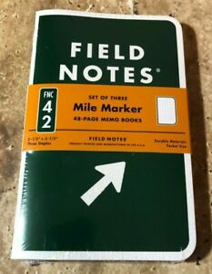 Field Notes 2019 Mile Marker Edition New Sealed 3 pack Memo Book