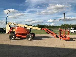 Jlg 600aj Articulated Boom Lift 60 Ft Reach Diesel 4x4 Low Hours 2009 2010 Genie