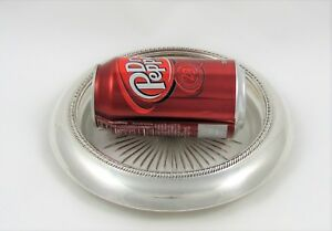 Very Large Sterling Silver And Cut Glass Coaster By Laben