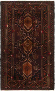 Hand Knotted Carpet 3 9 X 6 3 Traditional Vintage Wool Rug