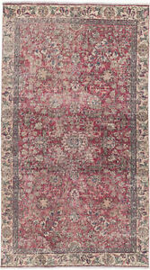 Hand Knotted Turkish Carpet 4 6 X 7 11 Melis Vintage Traditional Wool Rug