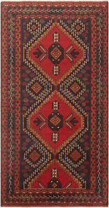 Hand Knotted Carpet 3 5 X 6 6 Traditional Vintage Wool Rug