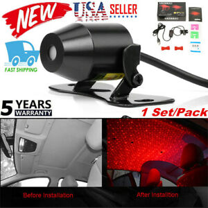 Usb Car Atmosphere Lamp Interior Ambient Star Light Starry Sky Bright Us Stock
