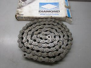 Diamond 100 Riv Roller Chain 10 No Connecting Link