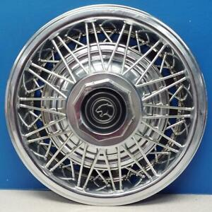 One 1980 1982 Mercury Cougar 799a 14 Wire Wheel Cover Wire Hubcap Used
