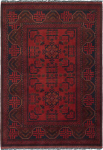 Hand Knotted Carpet 3 4 X 5 0 Traditional Vintage Wool Rug
