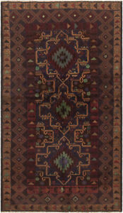 Hand Knotted Carpet 3 5 X 6 5 Traditional Vintage Wool Rug