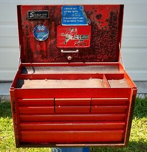 Snap On Red 9 Drawer Tool Box Top Chest With Key Included