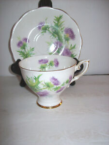 Vintage Royal Standard Fine Bone China Tea Cup And Saucer Scots Emblem Numbered