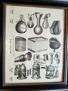 1876 Anesthesia Knaugh Brothers Book Plate 2 Sided Picture Framed