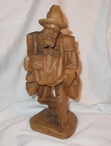 Hand Carved Bearded Man 9 5 Tall