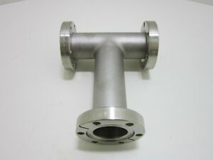 Stainless Steel Vacuum Pipe Tee Fitting 2 3 4 Cf Flange Mdc Mfg Excellent Usa