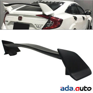 Black Rear Trunk Spoiler Wing For 2016 2018 Honda Civic Sedan 4dr Type R Style