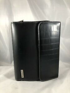 Compact 1 25 Black Reptile Faux Leather Franklin Covey Day One Planner Binder