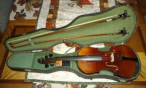 Old Antique Vintage Violin Stradiuvarius 1711 With Case Gut Strings Chinrest