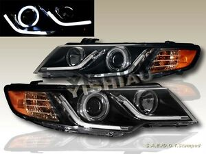 Fit 10 13 Forte Forte Coupe Ccfl Halo Led Strip R8 Black Projector Headlights G2