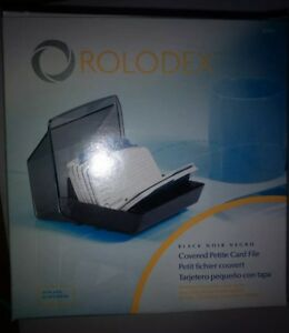 New Rolodex Office Covered Card Files Compact 2 1 4x4 Cards Flip A z Tabs 67071
