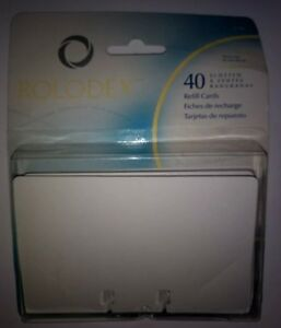 New Rolodex 40 Count Rotary File Refill Cards 2 1 4 X 4 67592