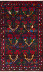 Hand Knotted Carpet 3 7 X 6 5 Traditional Vintage Wool Rug