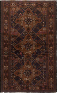 Hand Knotted Carpet 4 0 X 6 7 Traditional Vintage Wool Rug
