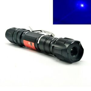 Waterproof 450nm Blue Laser Pointer 450t 1000 Focusable Dot Powerful Torch 18650