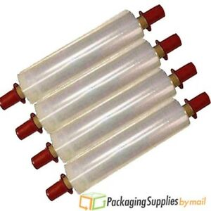 20 X 1000 80 Ga Pallet Hand Stretch Wrap Film 28 Rolls 14 Red Tension Handle
