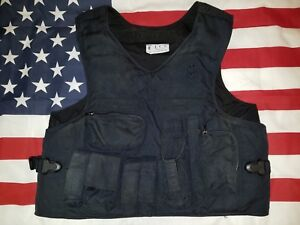 Custom Made Police Tactical Duty Vest With Bullet Proof Body Armor Lot Second