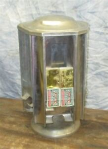 Wrigley Bubble Gum Match Display Case Stand Drug Store Sales Counter Vintage