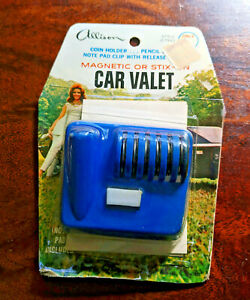 Vintage Car Valet Coin Pencil Note Pad Holder New Old Stock Allison Blue