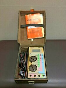 Vtg Simpson Electric 470 Meters With Manual And Case Rare