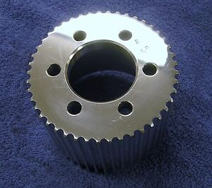New 8mm 45 Tooth Blower Supercharger Pulley Snout Belt Hemi Gasser Chevy 671