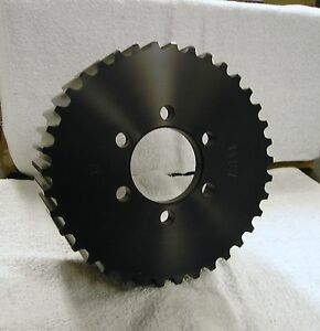 New 14 Mm Gt 38 Tooth Blower Supercharger Pulley Snout Hemi Gasser Chevy 671 471