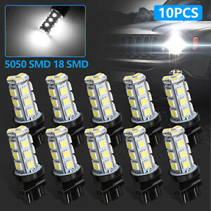 10x White 3157 3156 18smd Led Light Bulbs Tail Brake Stop 3528 3157a 6000k