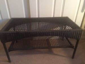 Vintage Metal Wired Patio Coffee Table