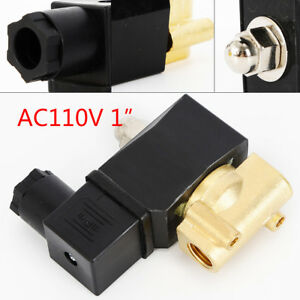 1 npt Electric Solenoid Valve Solid Brass Air Gas Water N c 0 2amp Solid Brass