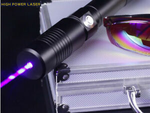 Strong Power Military 10000m Blue Laser Pointer 450nm 1 w Burning Lazer Torch