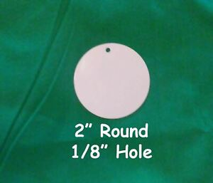 2 Round Dye Sublimation Aluminum Blank Disc insert With 1 8 Hole 50pc Lots