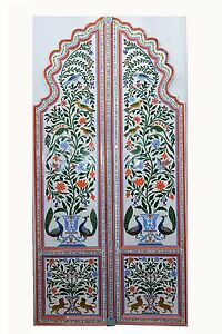 Door Flower Glass Door Home Decor Beautiful Vintage Collectible India