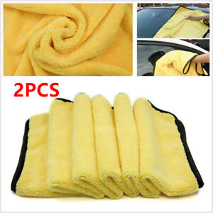 2x Car Vehicle Wash Cleaning Drying Cloth Rinse Absorbent Soft Microfiber Towel