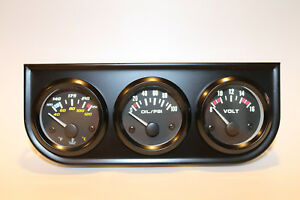 2 3 Gauge Set Oil Psi Volt Water Temp In F C W Metal Bracket