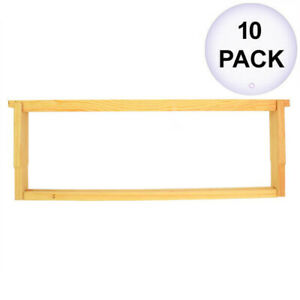 Goodland Bee Supply Beekeeping Beehive Body Super Foundation Deep Wood Frame 10p