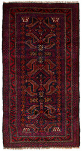 Hand Knotted Carpet 2 11 X 5 11 Traditional Vintage Wool Rug