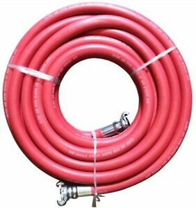 Red Jackhammer Rubber Air Hose 3 4 Universal chicago Couplings 50 Length