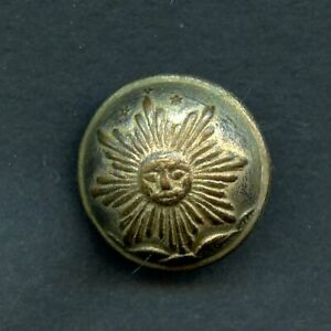 Interesting Old Argentina Army Button Silver Plated Two Piece Construction