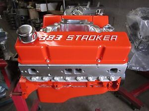 383 Chevy Stroker Engine Motor With Proheader 1 Aluminum Heads Free Shipping