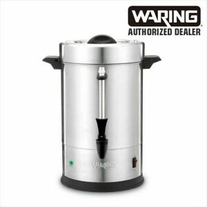 Waring Wcu55 55 Cup Coffee Urn Brewer Dual Heater 120v Commercial Full Warranty