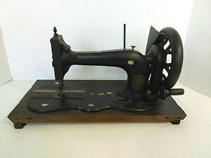 Antique Singer Rare Fiddle Base Sewing Machine Vintage 1800s With Pearl Inlay