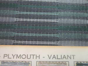 Oem 1962 Plymouth Valiant Seat Material Green grey white Plastic Nylon Tough