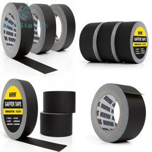 New Black Gaffers Tape 3 Pack 30 Yards 2 Inch Wide 3 Roll Bulk Set